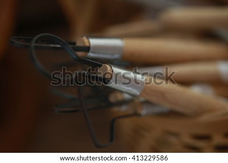 wire tool for clay sculpture, soft focus Sculpture Tool. - stock photo