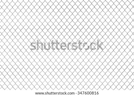 Wired fence pattern on a white background - stock photo