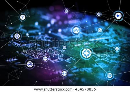 Smart City Wireless Communication Network Business Stock Photo ...