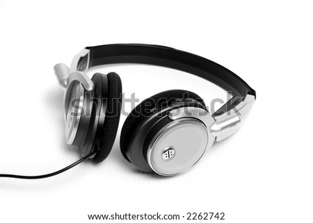Wired Stereo headphones - stock photo