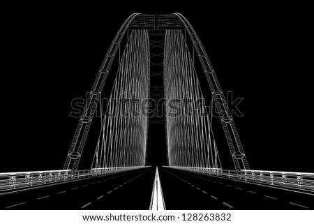 wireframe render of bridge