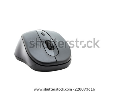 wireless computer mouse isolated on white background. - stock photo