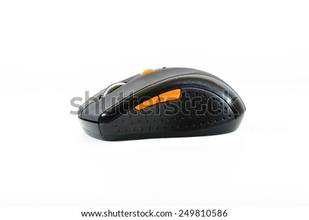wireless computer mouse isolated on white background, secondhand mouse