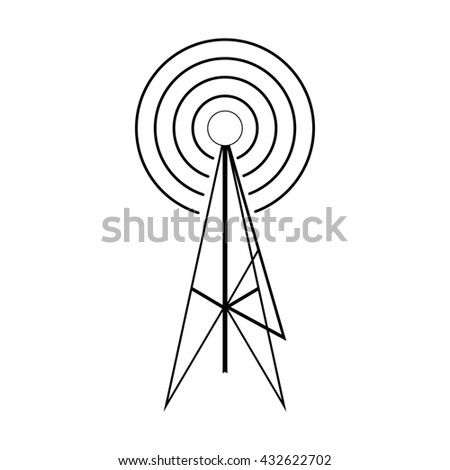 Wireless connection icon, isometric 3d style - stock photo