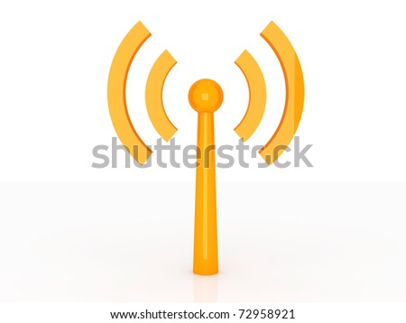Wireless. 3D rendered Illustration. Isolated on white. - stock photo