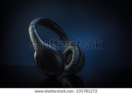 Wireless Headphones - stock photo