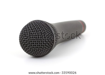 wireless microphone isolated on white background