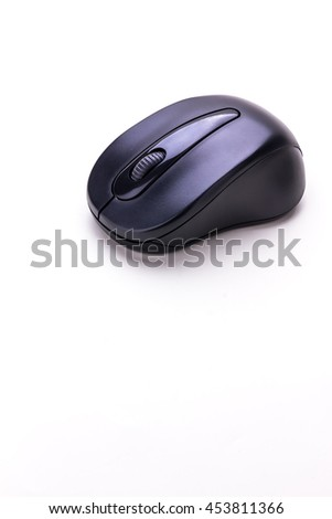 wireless mouse isolated on white background - stock photo