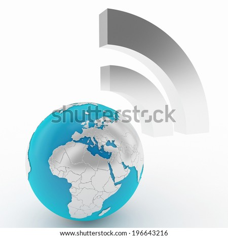 wireless or feed technology icon - stock photo