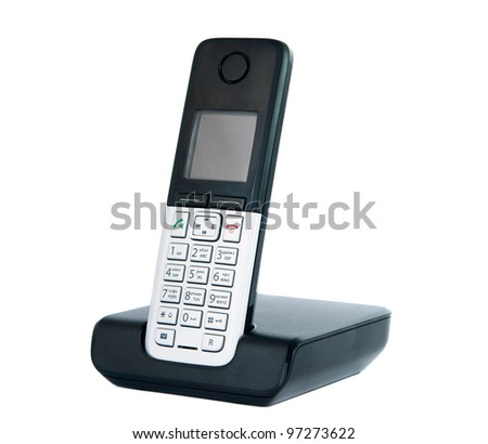 Wireless phone isolated on white background