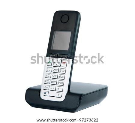 Wireless phone isolated on white background - stock photo