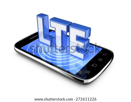 Wireless Technology. Smartphone on a white background.