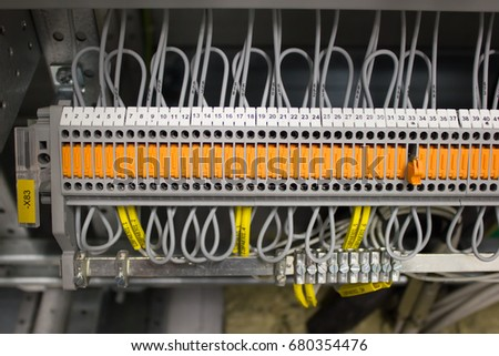 stock photo wiring terminal with knife switch 680354476 knife switch stock images, royalty free images & vectors knife switch wiring at gsmx.co