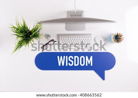 WISDOM Search Find Web Online Technology Internet Website Concept - stock photo