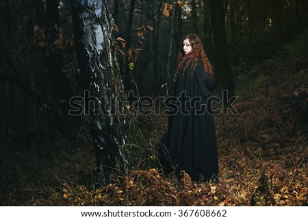 Wise woman of the woods . Fantasy and gothic