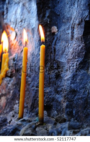 wish with candles - stock photo