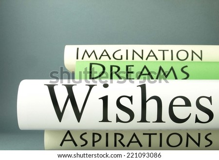 Wishes (book titles) - stock photo