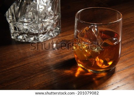 wiskey - stock photo