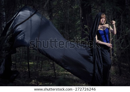 witch girl in forest