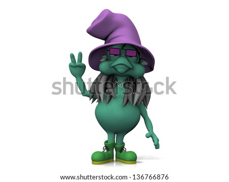 witch on a white background