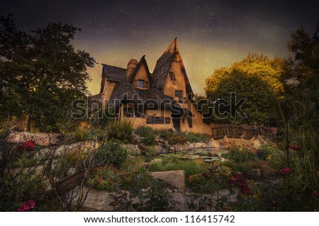 witches house - stock photo