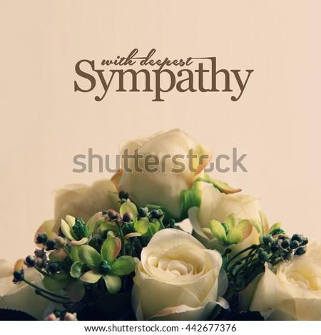Condolences background