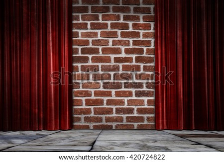 with marble floors curtain - stock photo