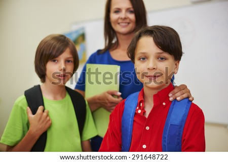 With our teacher education is nothing difficult - stock photo