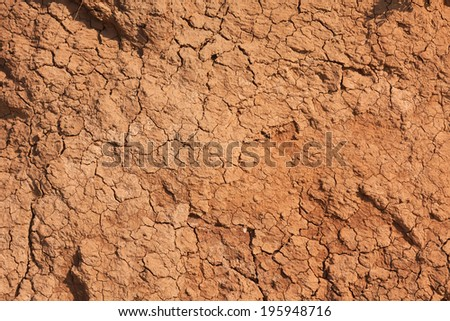 Withered chapped clay, can be used as background - stock photo