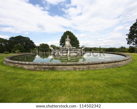 witley court stately home worcestershire england uk - stock photo