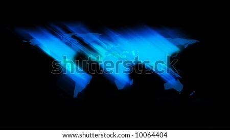 Wold Map in Space - stock photo