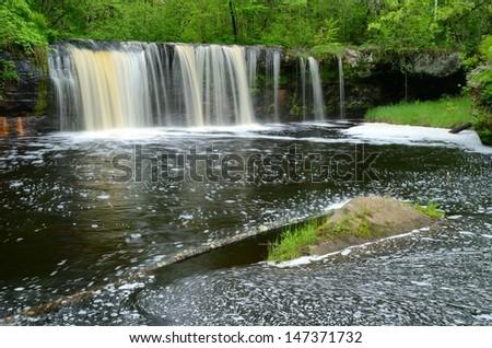 Wolf Creek Falls, Banning State Park Minnesota - stock photo