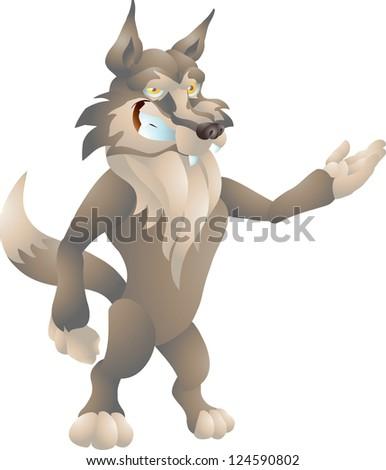 wolf presenting - stock photo