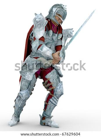 wolf warrior - stock photo