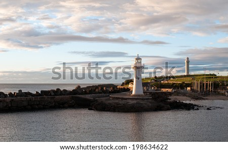 Wollongong Harbour - stock photo
