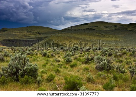 Wolverine Canyon, Blackfoot Mountains, Idaho - stock photo