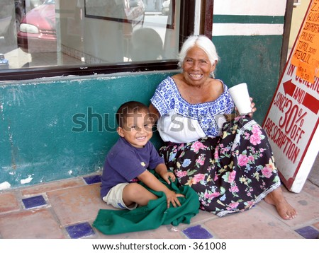 Woman and Child - stock photo