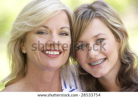 Woman And Her Teenage Daughter - stock photo
