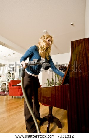 woman at the home - stock photo