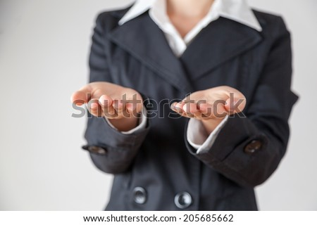Woman balancing work and private life - stock photo