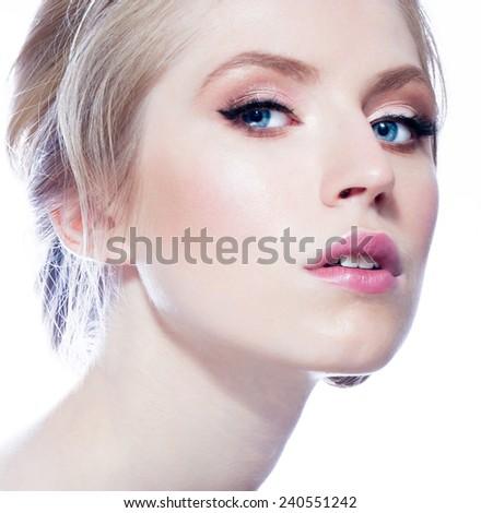 Woman beauty face - stock photo
