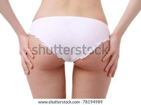 woman body Isolated over white background - stock photo