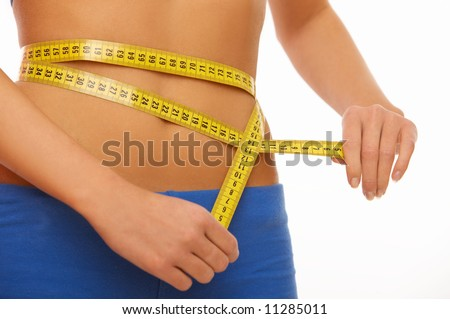 Woman body part is being measured - stock photo