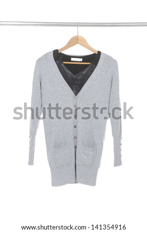 Woman clothes on a hanger - stock photo