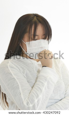Woman coughing a lot