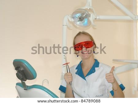woman dentist - stock photo