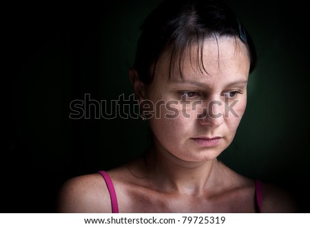 Woman Depressed. Series - stock photo