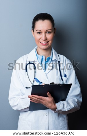 Woman Doctor At The Hospital - stock photo