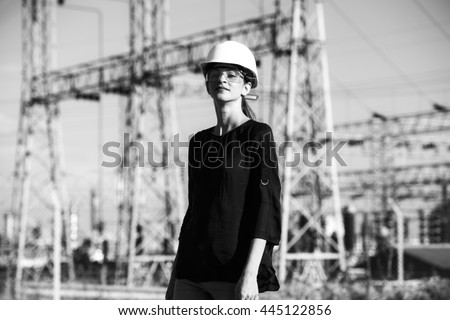 Woman Engineer (Art Development) - stock photo