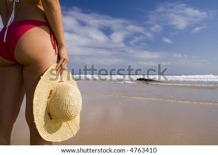 woman enjoying the summer breeze